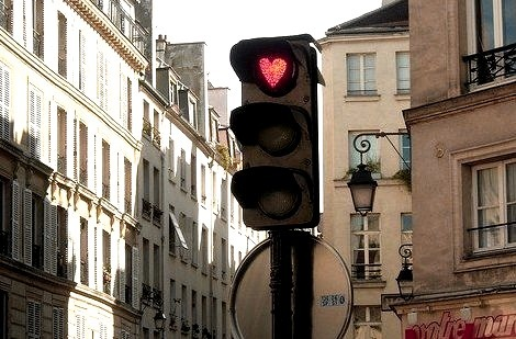 Heart Stoplight, Paris, France