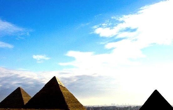 by fabriziogiordano23 on Flickr.The sky over the History, Giza Pyramids, Cairo, Egypt.