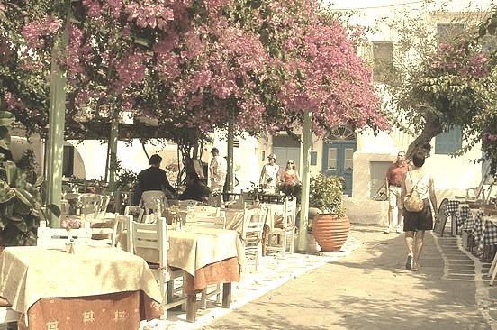by ropergees on Flickr.Street scene in Mykonos, Cyclades Islands, Greece.