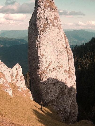 Giant rocks in Ceahlau Mountains, Romania