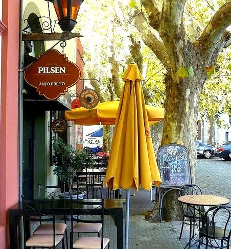Street scene in Colonia del Sacramento, Uruguay