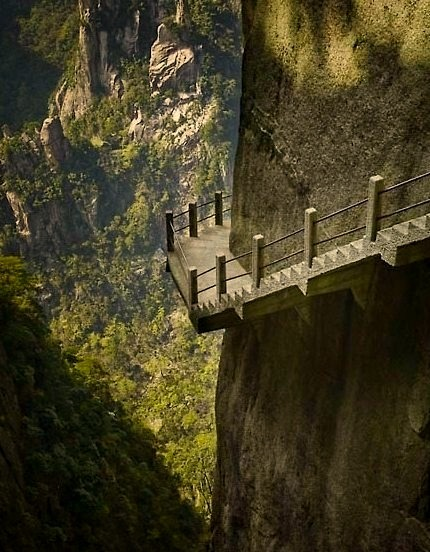 Cliffside Steps, Hunan, China
