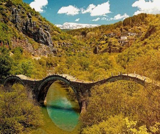 Ancient Stone Bridge, Zagori, Greece