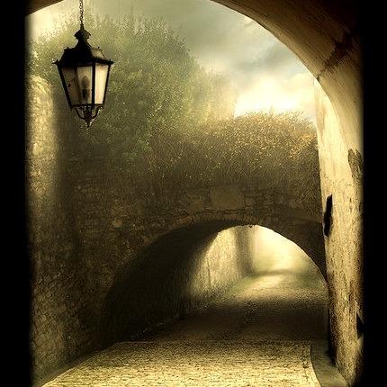 Foggy Portal, Veneto, Italy