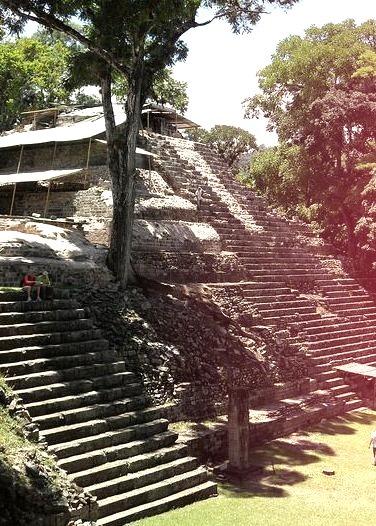 Mayan pyramids at Copan, Honduras