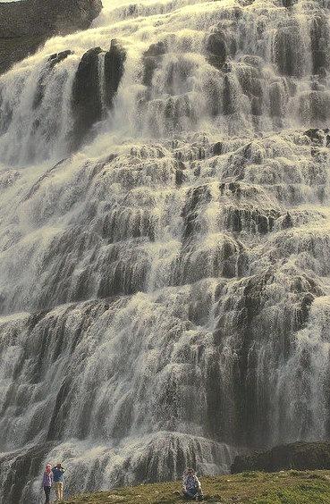 Dynjandi Waterfalls in Westfjords, Iceland